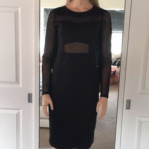 Pretty Forever 21 Black Dress With Sheer Inlay